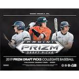 2019 Panini Prizm Draft Picks Baseball Hobby 16-Box Case (Presell)