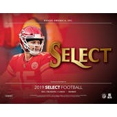 2019 Panini Select Football Hobby 12-Box Case (Presell)