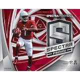 2019 Panini Spectra Football Hobby 8-Box Case (Presell)