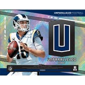 2019 Panini Unparalleled Football 8-Box Case- DACW Live 30 Spot Random Team Break #1