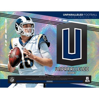 2019 Panini Unparalleled Football 8-Box Case- DACW Live 32 Spot Pick Your Team Team Break #1