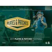 2019 Panini Plates and Patches Football Hobby Box (Presell)