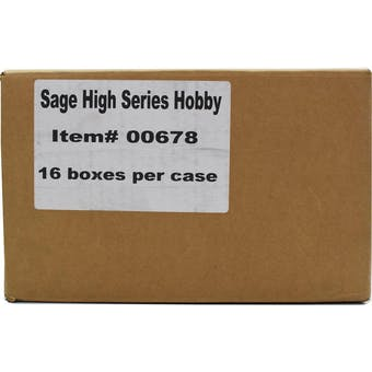2019 Sage Hit Premier Draft High Series Football Hobby 16-Box Case