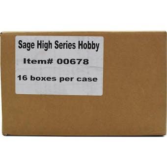 2019 Sage Hit Premier Draft High Series Football Hobby 16-Box Case
