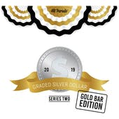 2019 Hit Parade Graded Silver Dollar GOLD Bar Edition - Series 2 - Hobby Box - NGC and PCGS Coins