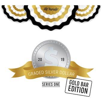 2019 Hit Parade Graded Silver Dollar GOLD Bar Edition - Series 1 - Hobby Box - NGC and PCGS Coins