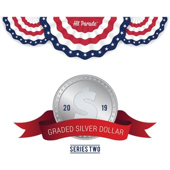 2019 Hit Parade Graded Silver Dollar Edition - Series 2 - Hobby Box - Graded NGC and PCGS Coins