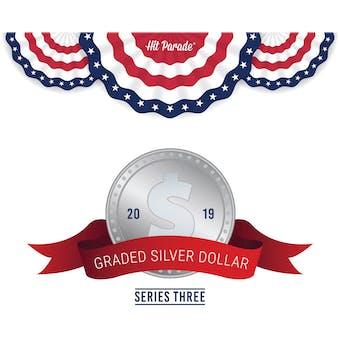 2019 Hit Parade Graded Silver Dollar Edition - Series 3 Case- DACW Live 10 Spot Random Coin Break #1