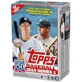 2019 Topps Series 1 Baseball 7-Pack Blaster Box