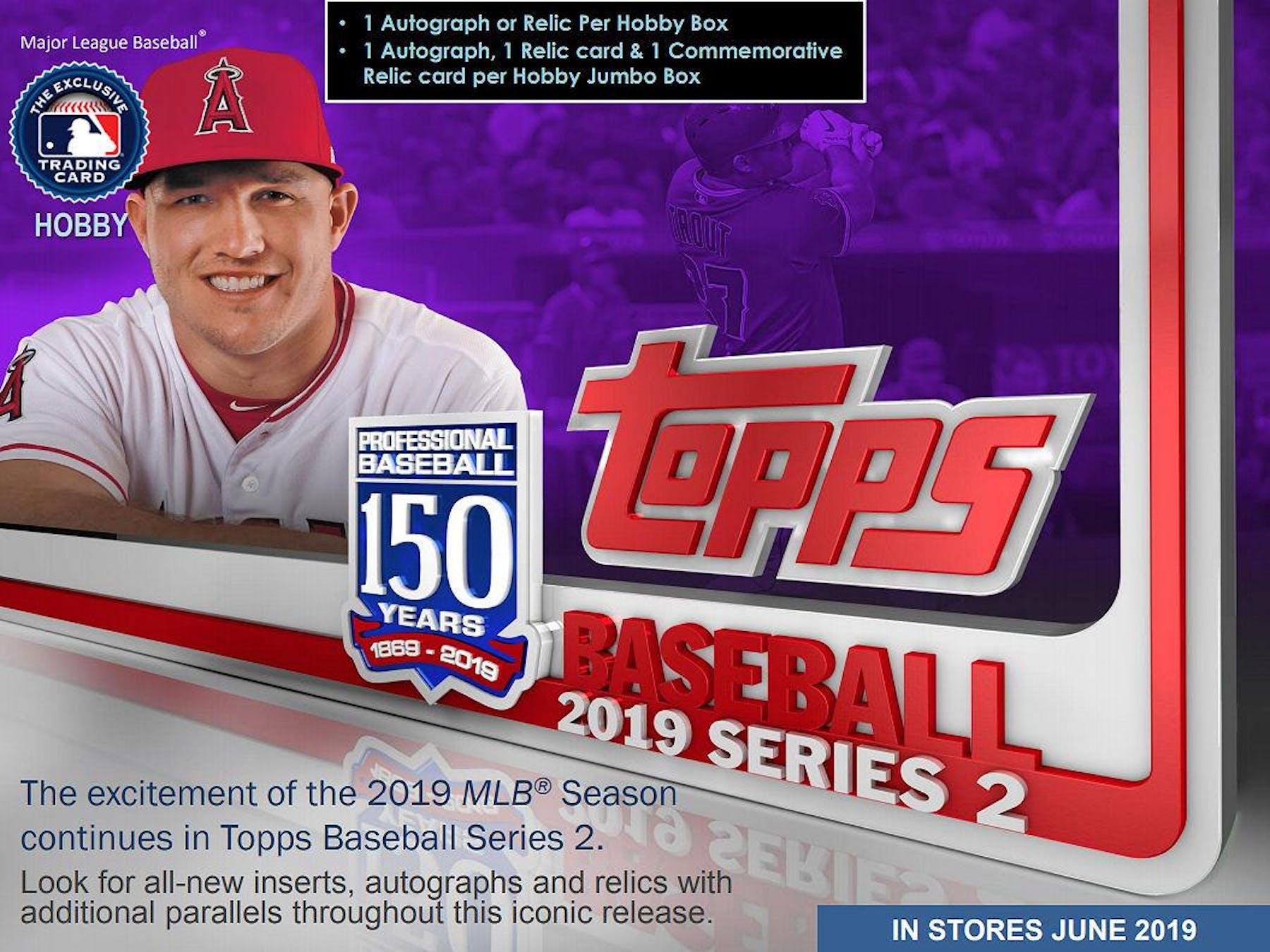 53ef45f2f31 2019 Topps Series 2 Baseball Hobby Box (PLUS 1 Silver Packs ...