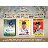 2019 Topps Archives Baseball Hobby 10-Box Case (Presell)
