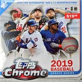 2019 Topps Chrome Update Series Baseball Mega Box