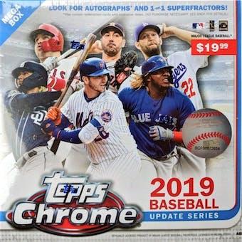 2019 Topps Chrome Update Series Baseball Mega Box