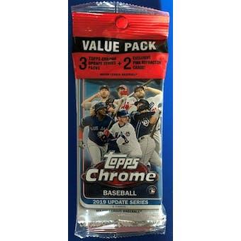 2019 Topps Chrome Update Baseball Jumbo Value 14-Card Pack (Pink Refractors)