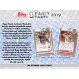2019 Topps Clearly Authentic Baseball Hobby 20-Box Case (Presell)