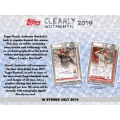 2019 Topps Clearly Authentic Baseball Hobby Box (Presell)