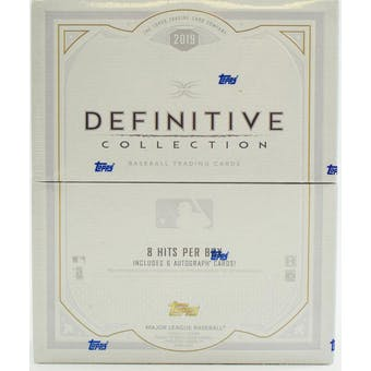 2019 Topps Definitive Collection Baseball 3-Box Case- DACW Live 29 Spot Pick Your Team Break #1