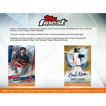 2019 Topps Finest Baseball 8-Box Case- DACW Live 30 Spot Pick Your Team Break #1