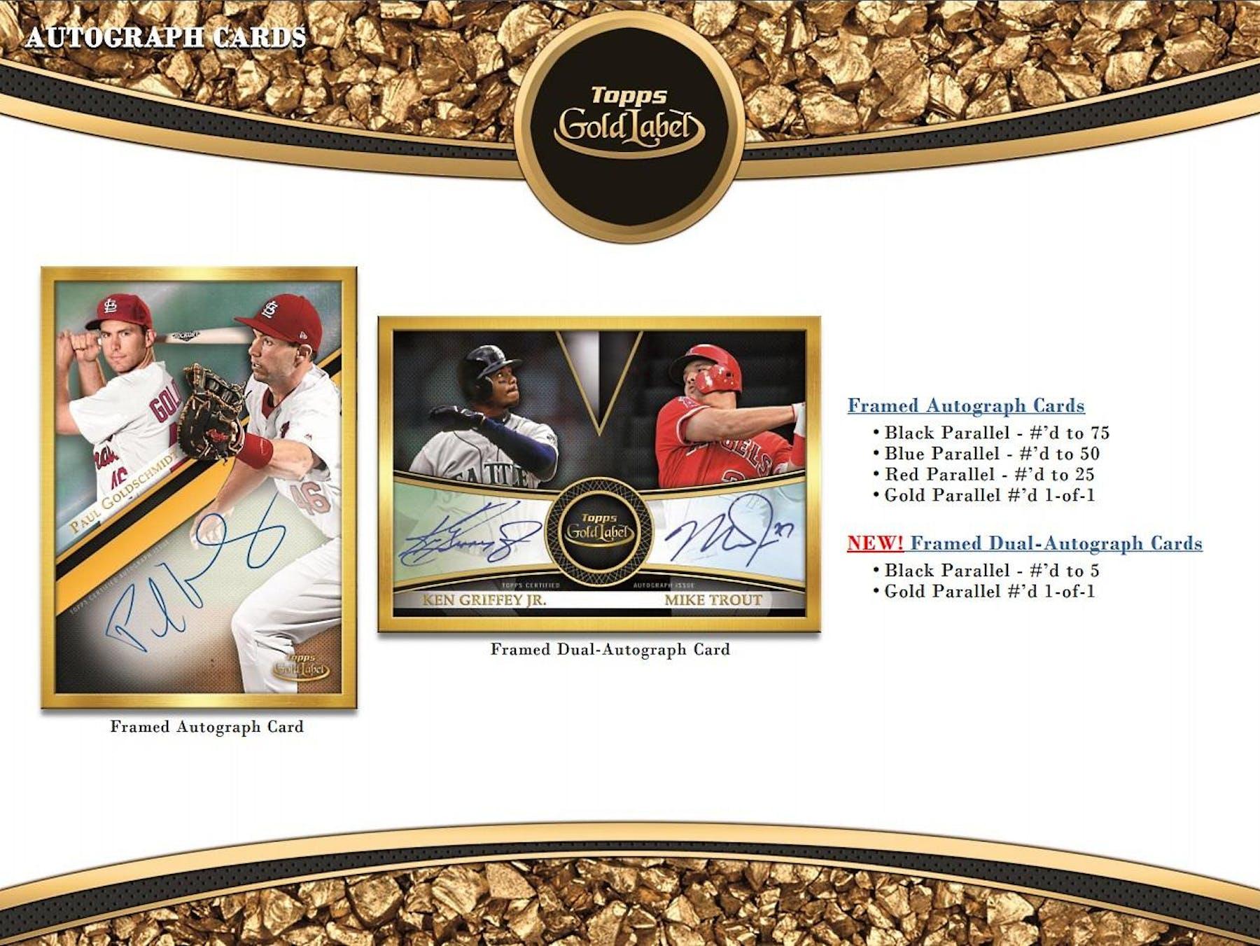 2019 Topps Gold Label Baseball Hobby Box