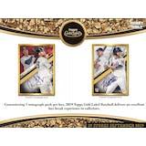 2019 Topps Gold Label Baseball Hobby 16-Box Case (Presell)