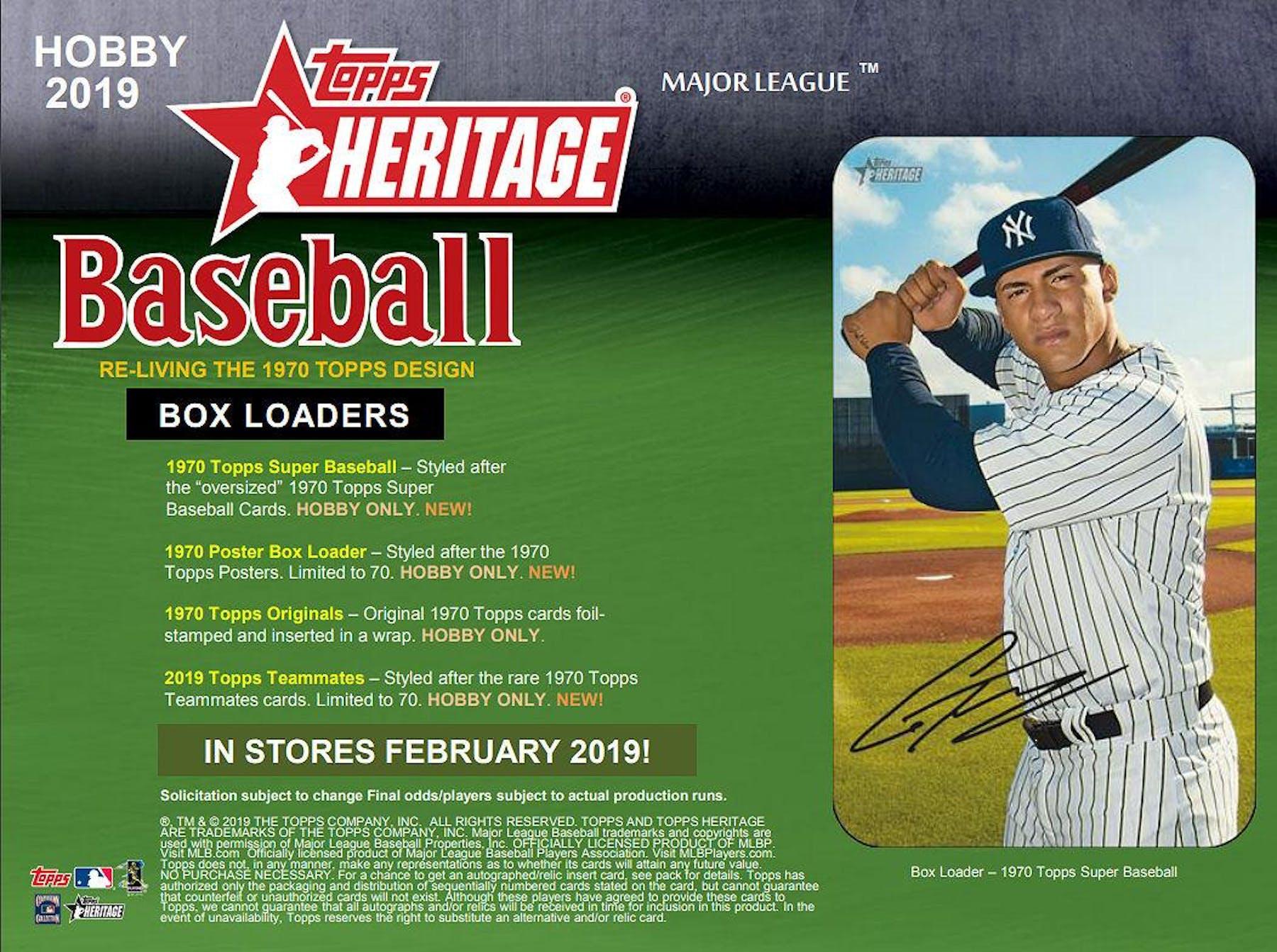 2019 Topps Heritage Baseball Hobby Box Da Card World