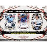 2019 Topps High Tek Baseball Hobby 12-Box Case (Presell)
