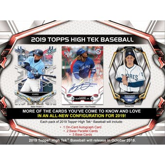 2019 Topps High Tek Baseball 12-Box Case- DACW Live 30 Spot Pick Your Team Break #1