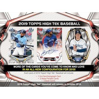 2019 Topps High Tek Baseball 12-Box Case- DACW Live 30 Spot Pick Your Team Break #1