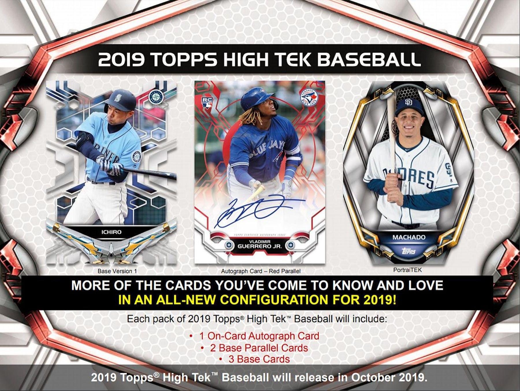 2019 Topps High Tek Baseball Hobby 12 Box Case Presell