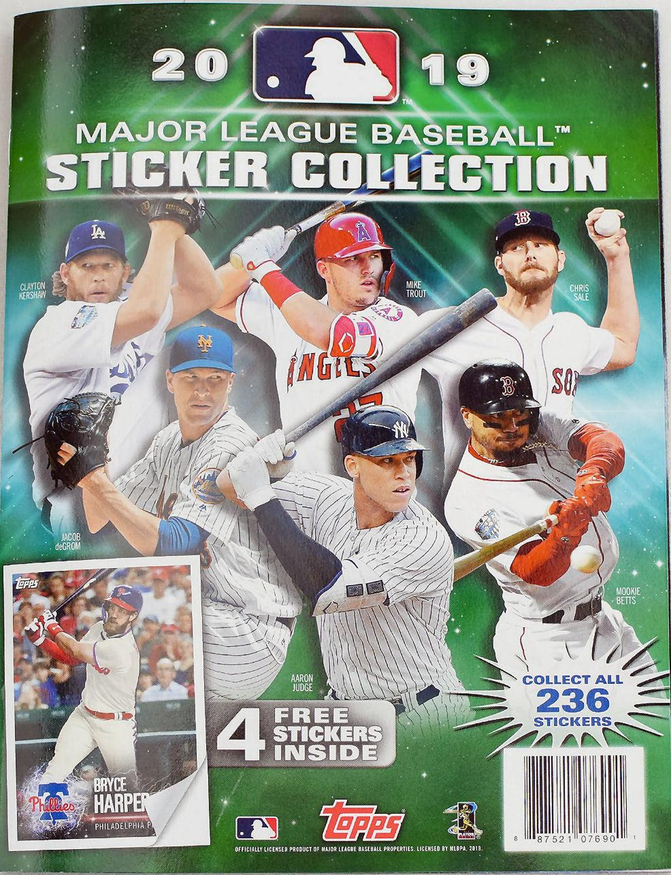 2019 Topps Baseball Mlb Sticker Collection Album