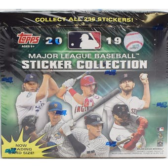 2019 Topps Baseball MLB Sticker Collection Box