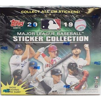 2019 Topps Baseball MLB Sticker Collection Box