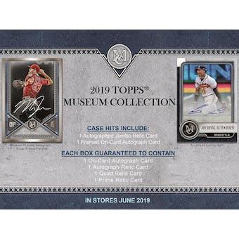 2019 Topps Museum Collection Baseball 12-Box Case- DACW Live 6 Spot Random Divison Break #1