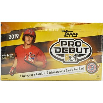 2019 Topps Pro Debut Baseball Hobby Box