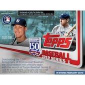 2019 Topps Series 1 Baseball Hobby Jumbo Pack