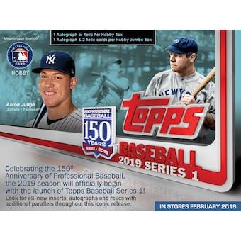 2019 Topps Series 1 Baseball Hobby Pack