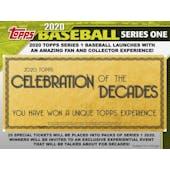 2020 Topps Series 1 Baseball Hobby 5-Box Lot Special (SHIPS 2/5/20)