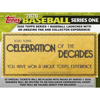 2020 Topps Series 1 Baseball Hobby 5-Box Lot Special (SHIPS 2/5/20) (Presell)
