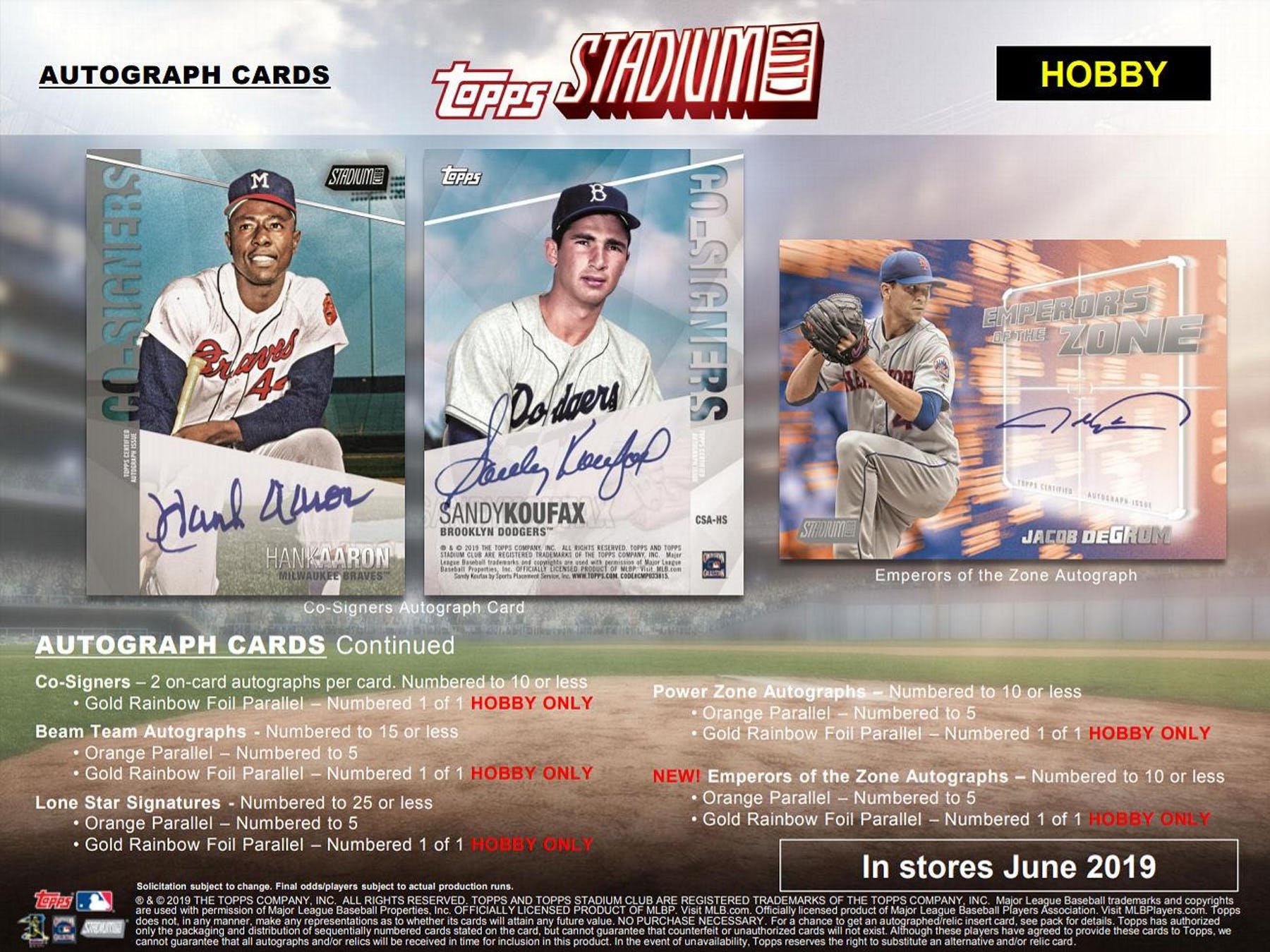 2019 Topps Stadium Club Baseball Hobby Pack