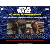 Star Wars Authentics Autographs Series 2 Hobby 12-Box Case (Topps 2019) (Presell)