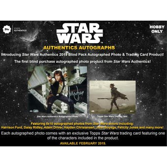 Star Wars Authentics Autographs Hobby Box (Topps 2019)