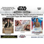 Star Wars Chrome Legacy Hobby Box (Topps 2019) (Presell)