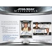 Star Wars Masterwork Hobby Box (Topps 2019) (Presell)