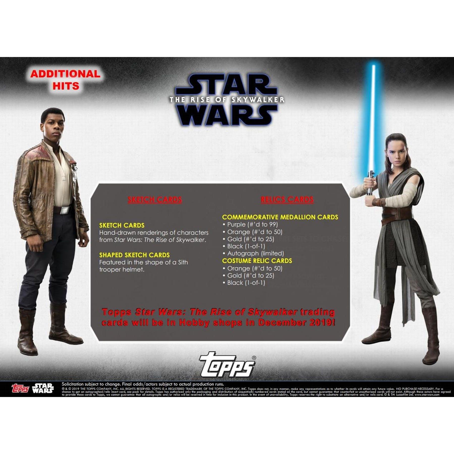 Star Wars The Rise Of Skywalker Hobby Box Topps 2019 Da Card World
