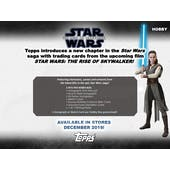 Star Wars The Rise of Skywalker Hobby 12-Box Case (Topps 2019) (Presell)