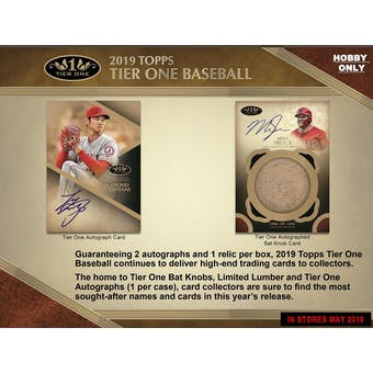 2019 Topps Tier One Baseball 12-Box Case-  DACW Live 30 Spot Pick Your Team Break #4