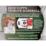 2019 Topps Tribute Baseball Hobby 6-Box Case (Presell)