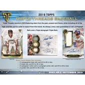 2019 Topps Triple Threads Baseball Hobby 18-Box Case (Presell)