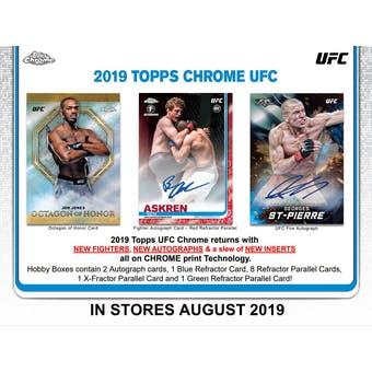 2019 Topps UFC Chrome Hobby 12-Box Case (Presell)