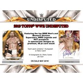 2019 Topps WWE Undisputed Wrestling 8-Box Case- DACW Live 20 Spot Draft Break #1